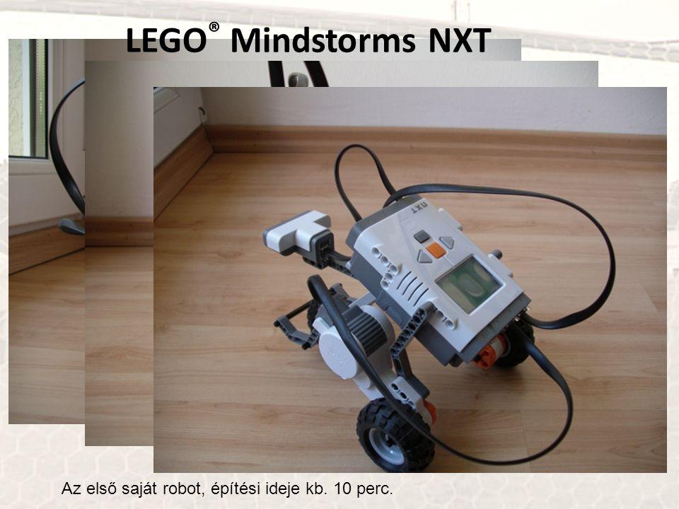 LEGO® Mindstorms NXT Az első saját robot, építési ideje kb. 10 perc.
