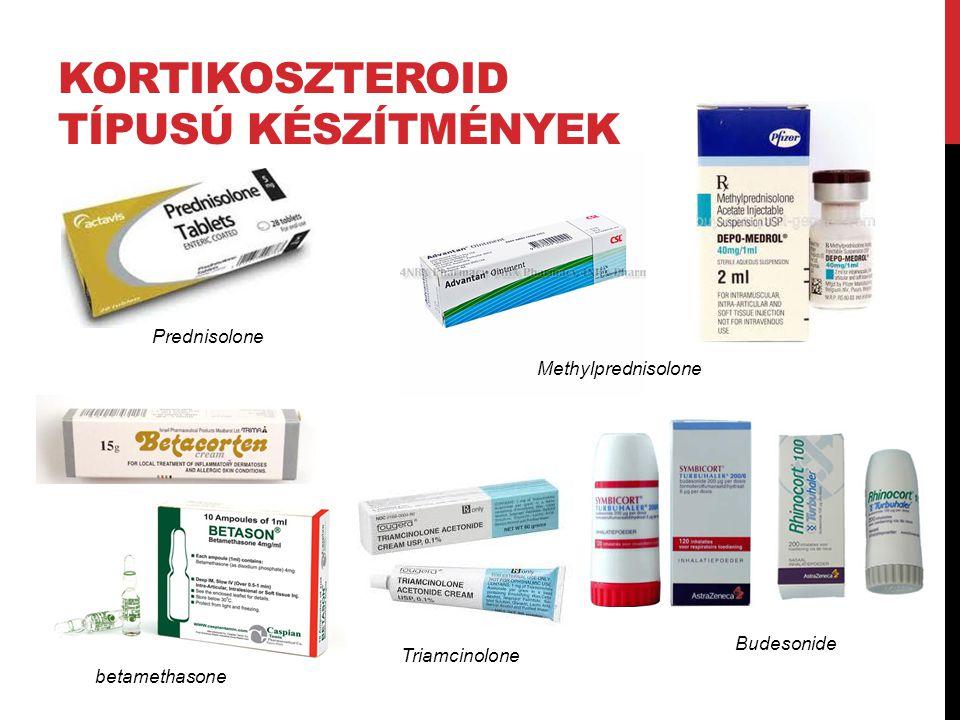 kortikoszteroId Típusú készítmények