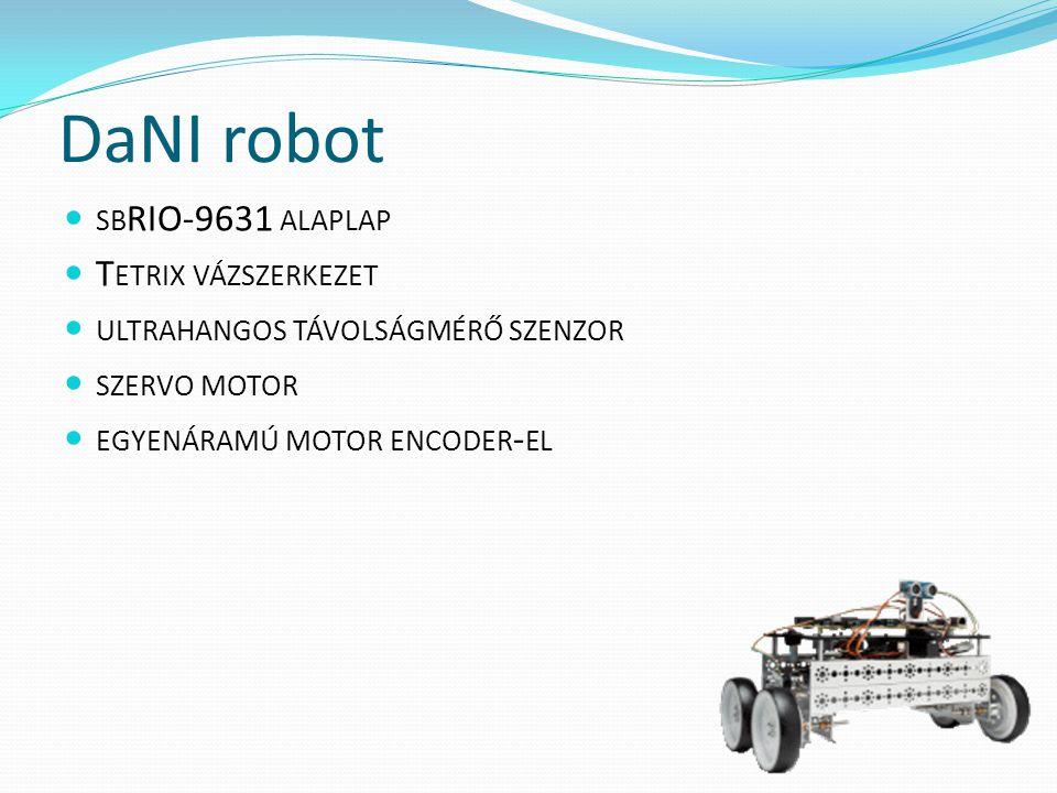 DaNI robot sbRIO-9631 alaplap Tetrix vázszerkezet