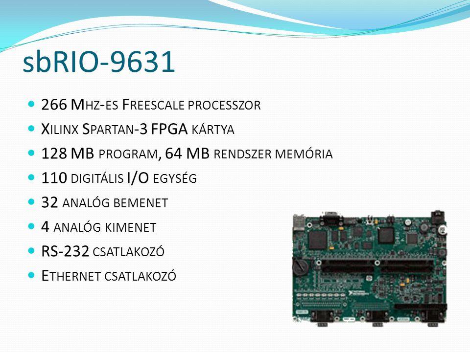 sbRIO-9631 266 Mhz-es Freescale processzor