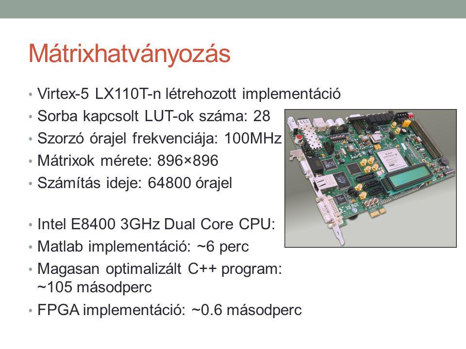 Mátrixhatványozás Virtex-5 LX110T-n létrehozott implementáció
