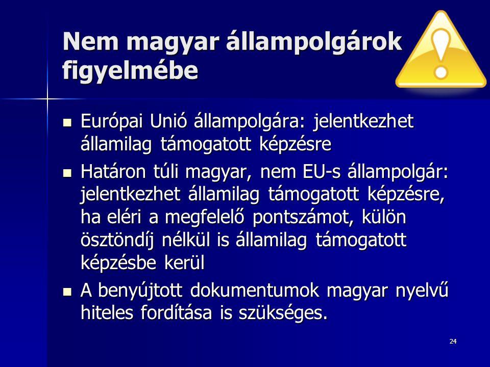 Nem magyar állampolgárok figyelmébe