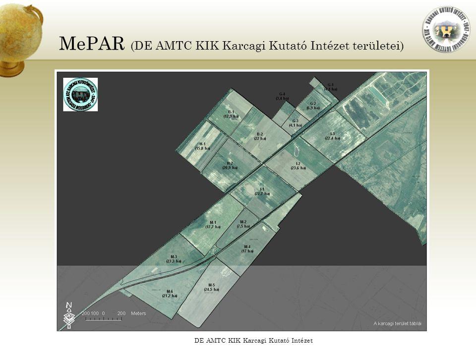 MePAR (DE AMTC KIK Karcagi Kutató Intézet területei)