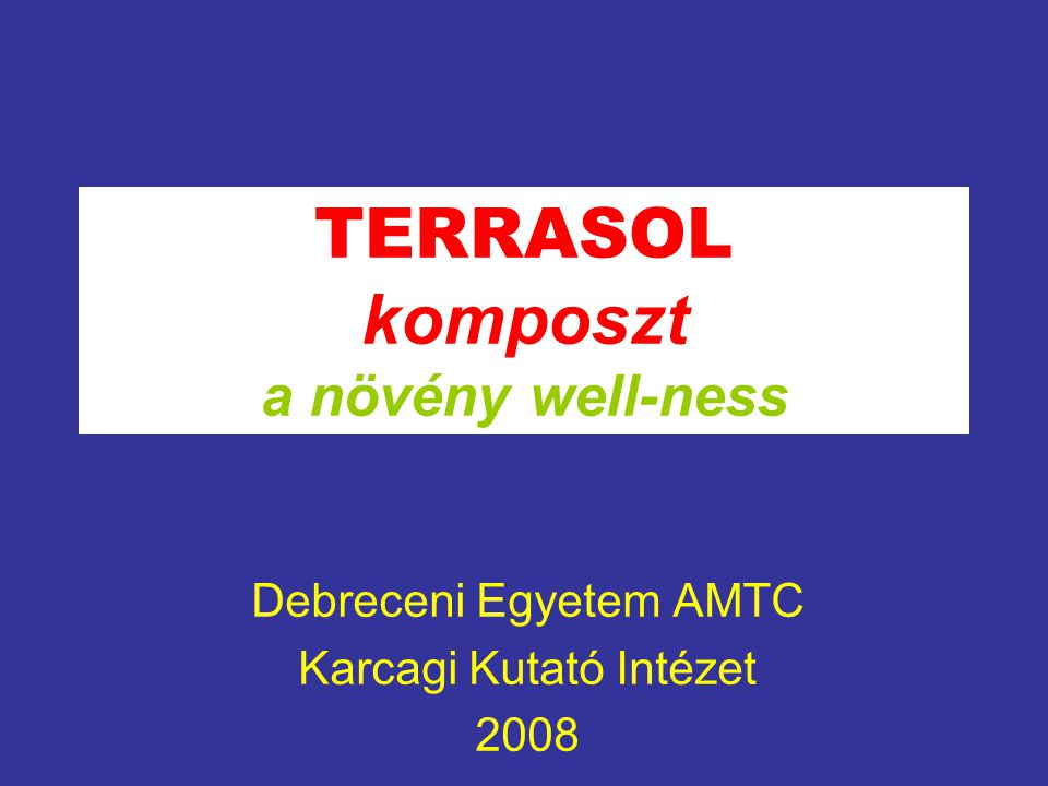 TERRASOL komposzt a növény well-ness