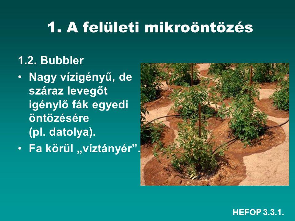 1. A felületi mikroöntözés