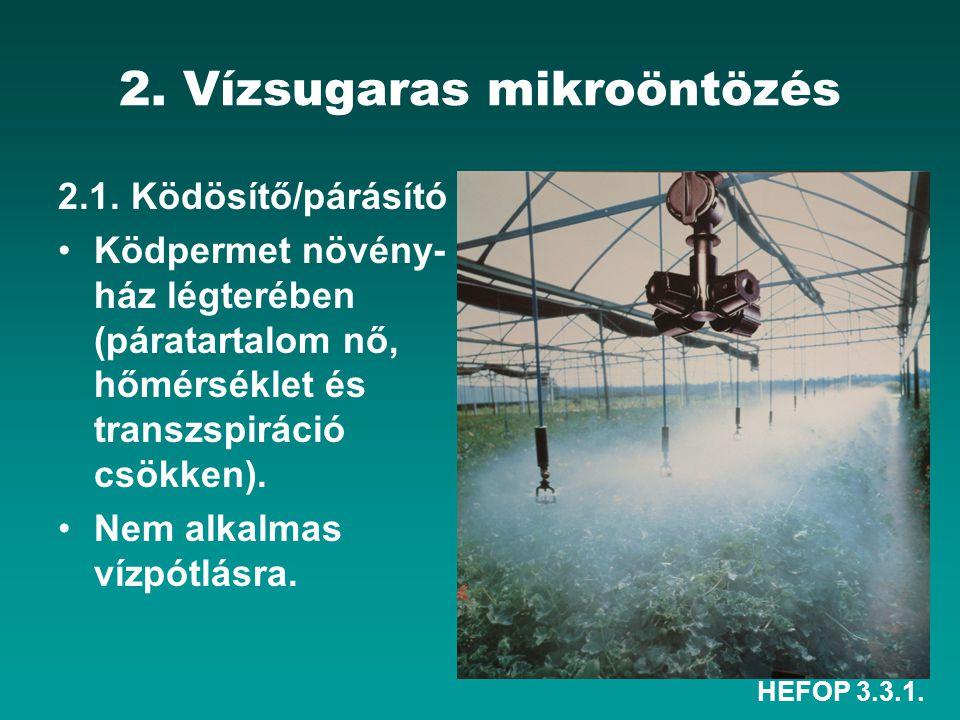 2. Vízsugaras mikroöntözés