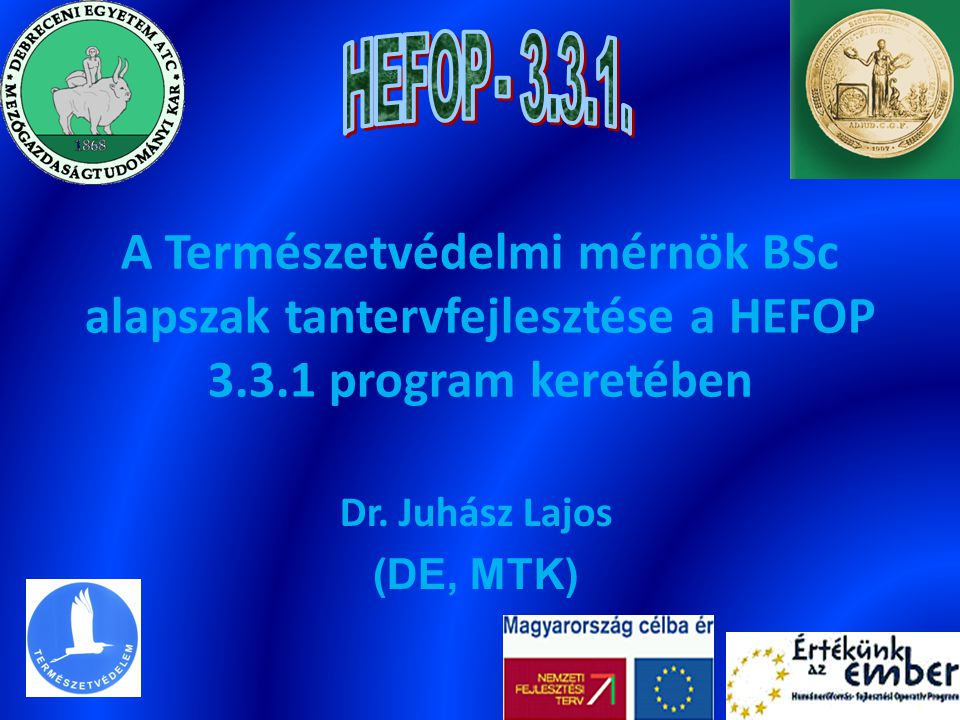 Dr. Juhász Lajos (DE, MTK)