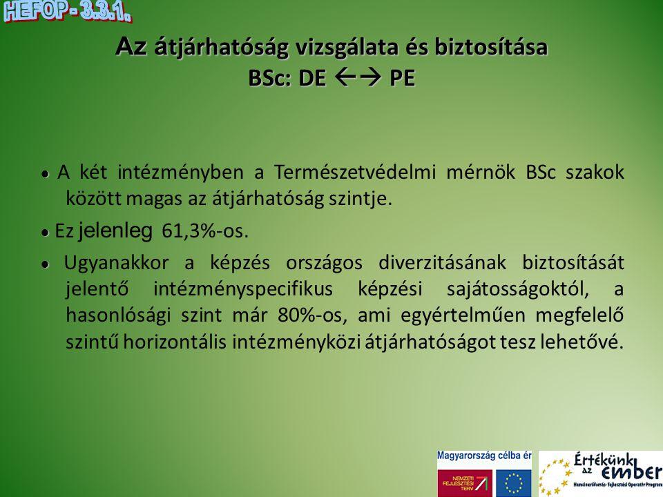 Az átjárhatóság vizsgálata és biztosítása BSc: DE  PE