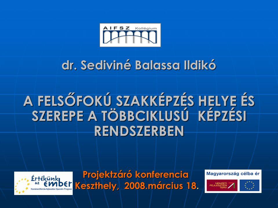 dr. Sediviné Balassa Ildikó Projektzáró konferencia