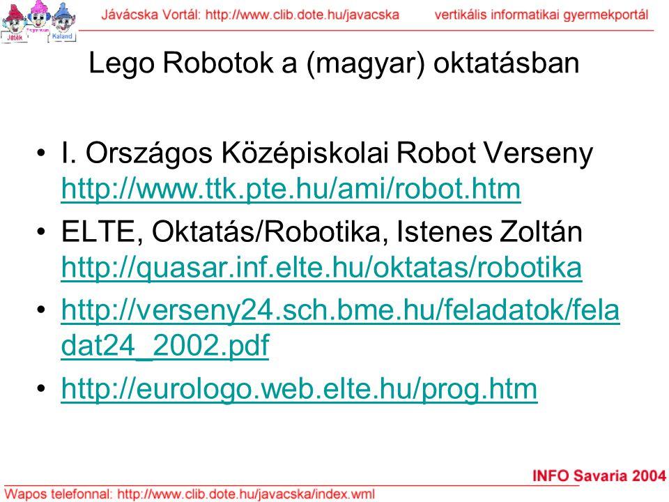Lego Robotok a (magyar) oktatásban