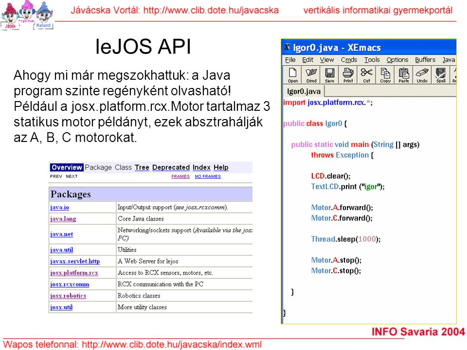 leJOS API
