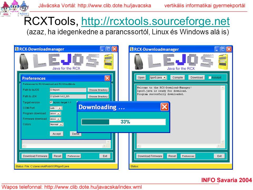 RCXTools, http://rcxtools. sourceforge