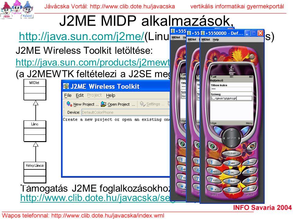 J2ME MIDP alkalmazások, http://java. sun