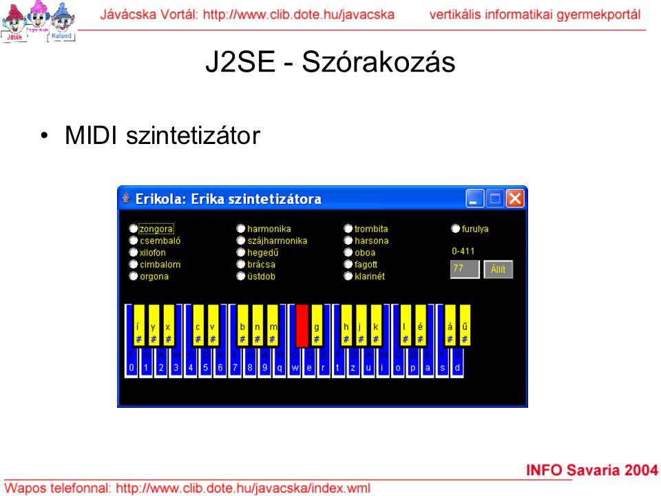 J2SE - Szórakozás MIDI szintetizátor