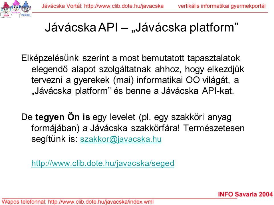 """Jávácska API – """"Jávácska platform"""
