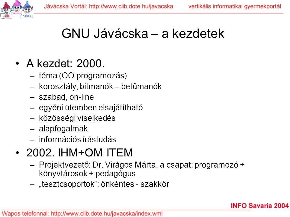 GNU Jávácska – a kezdetek