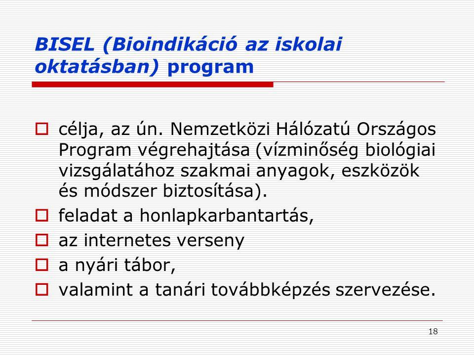 BISEL (Bioindikáció az iskolai oktatásban) program