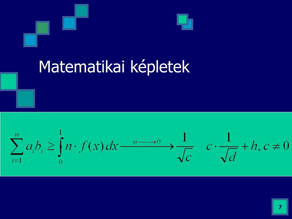 Matematikai képletek 7