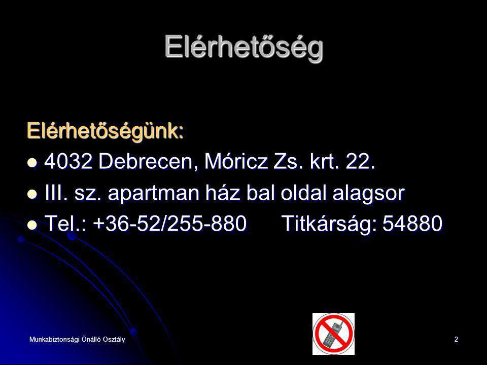 Elérhetőség Elérhetőségünk: 4032 Debrecen, Móricz Zs. krt. 22.