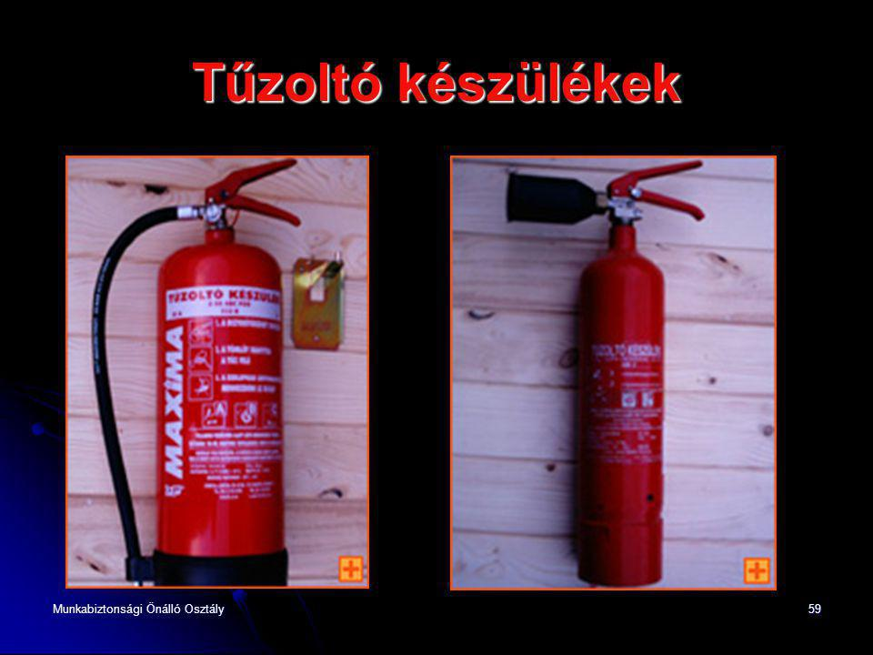 Tűzoltó készülékek Munkabiztonsági Önálló Osztály
