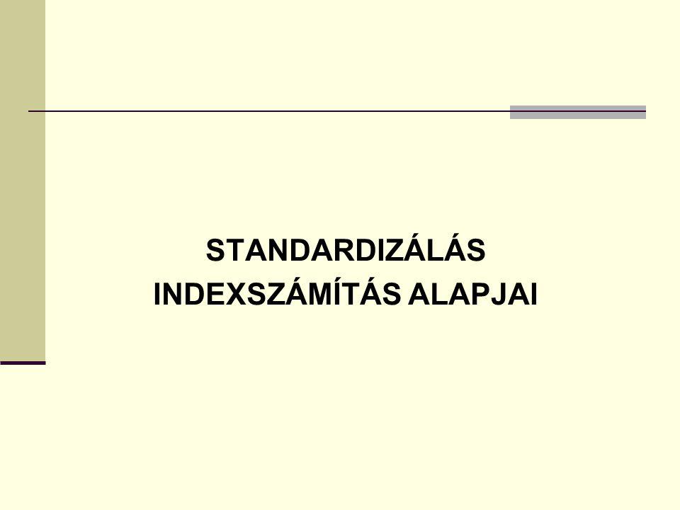 INDEXSZÁMÍTÁS ALAPJAI