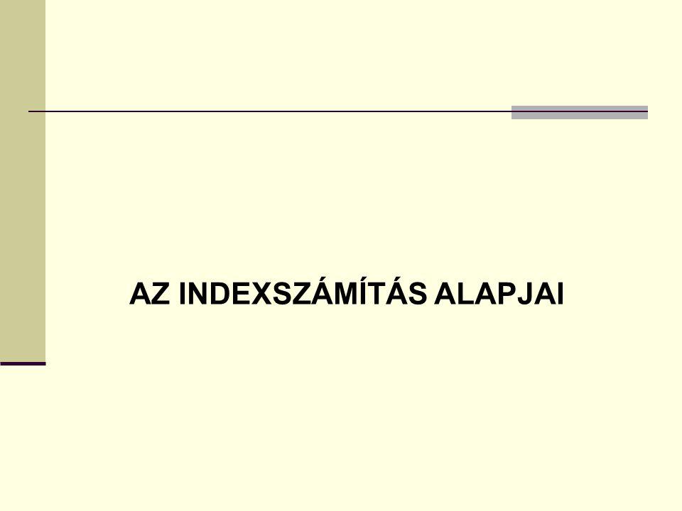 AZ INDEXSZÁMÍTÁS ALAPJAI