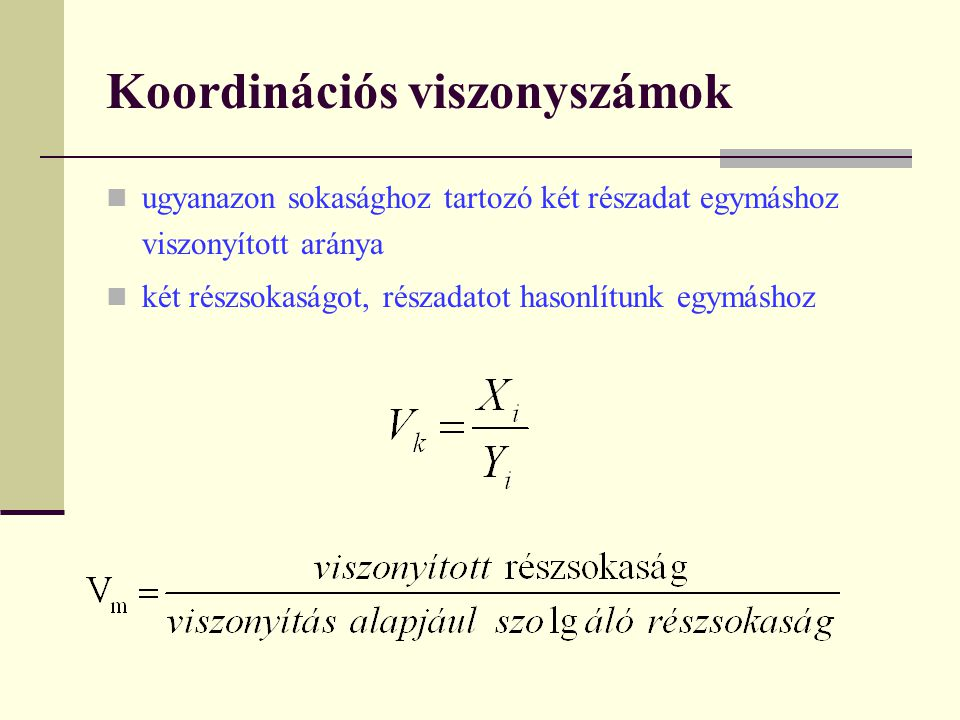 Koordinációs viszonyszámok