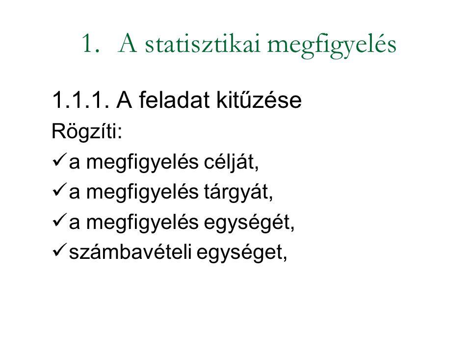 A statisztikai megfigyelés