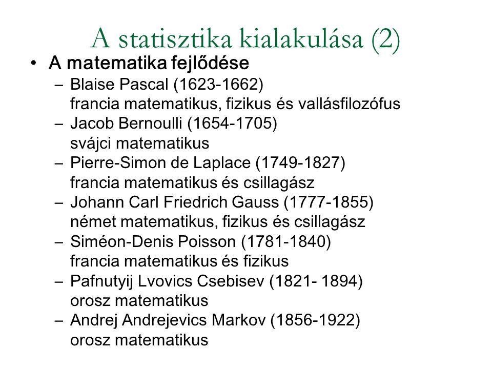 A statisztika kialakulása (2)