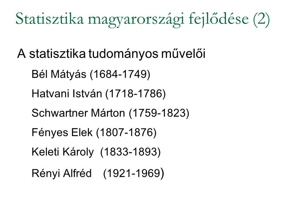 Statisztika magyarországi fejlődése (2)