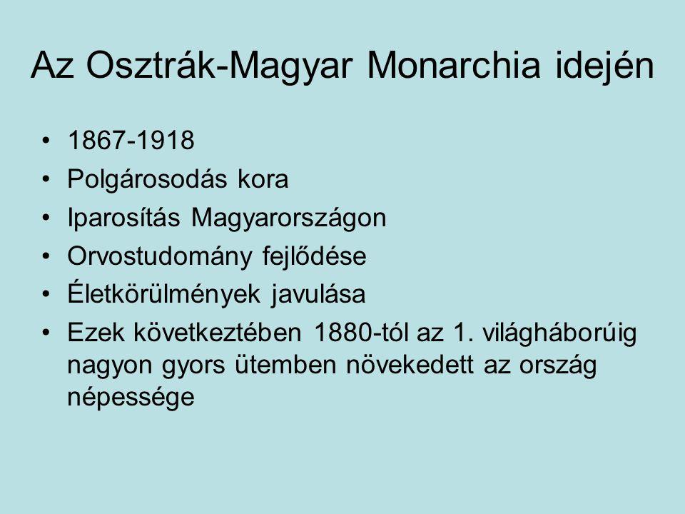 Az Osztrák-Magyar Monarchia idején