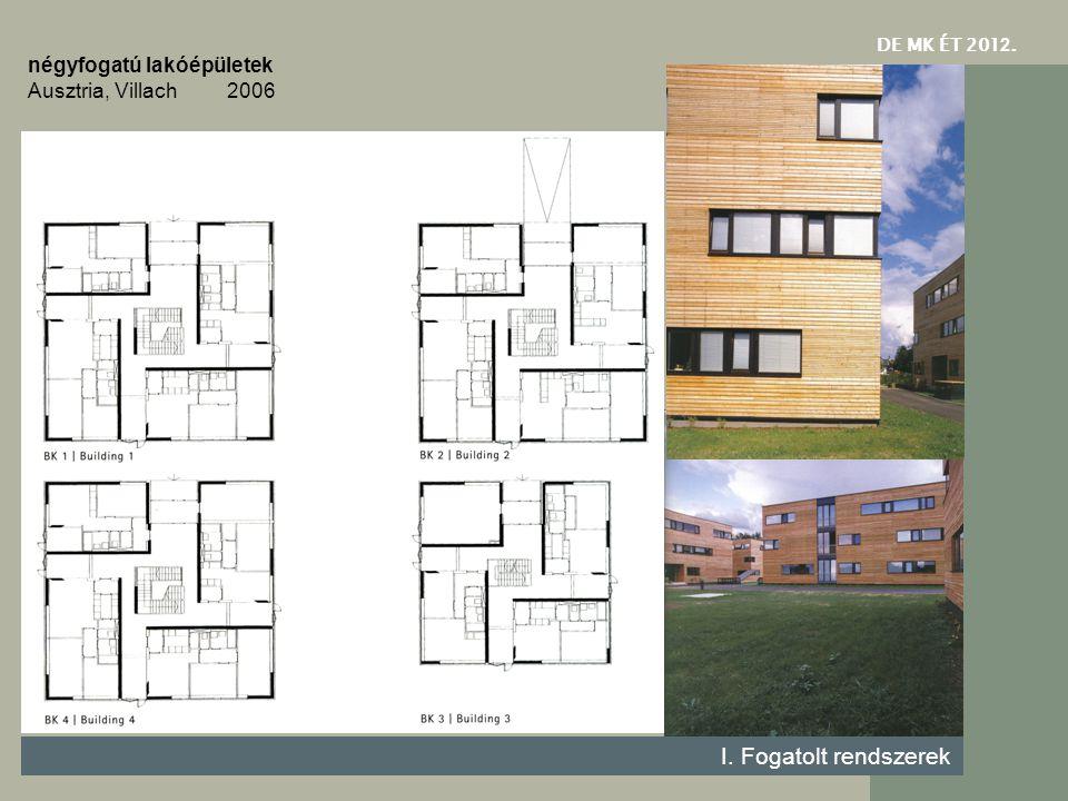 I. Fogatolt rendszerek négyfogatú lakóépületek Ausztria, Villach 2006