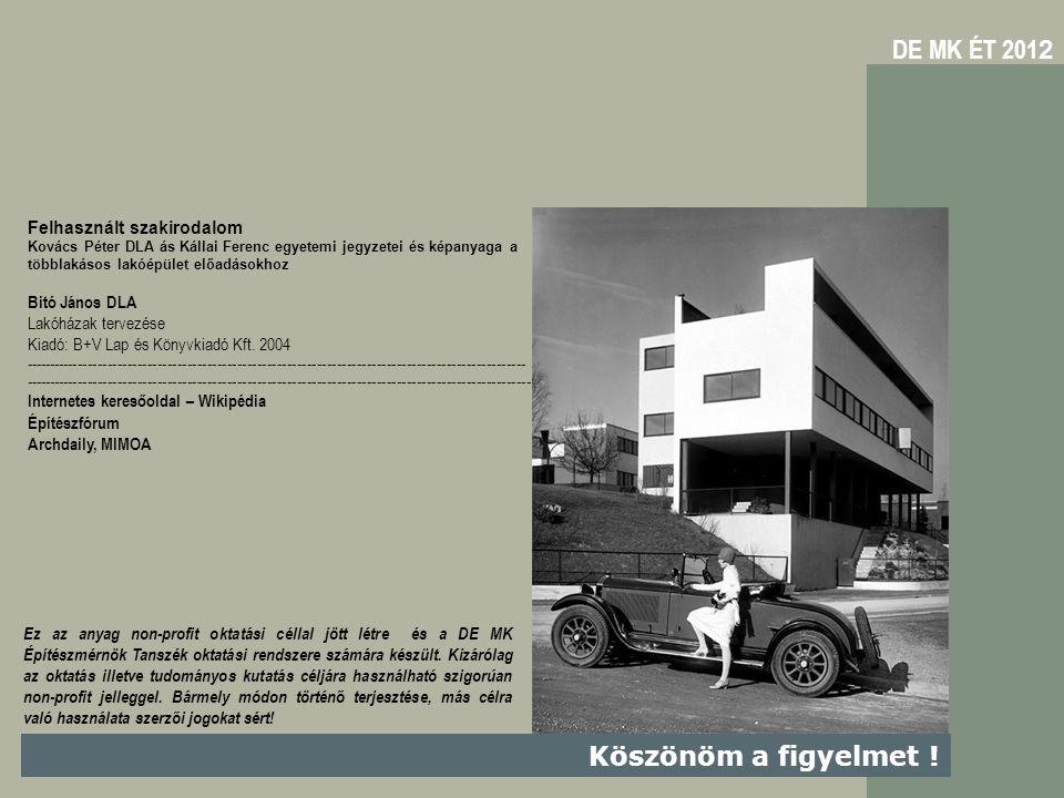 DE MK ÉT 2012 Köszönöm a figyelmet ! Felhasznált szakirodalom