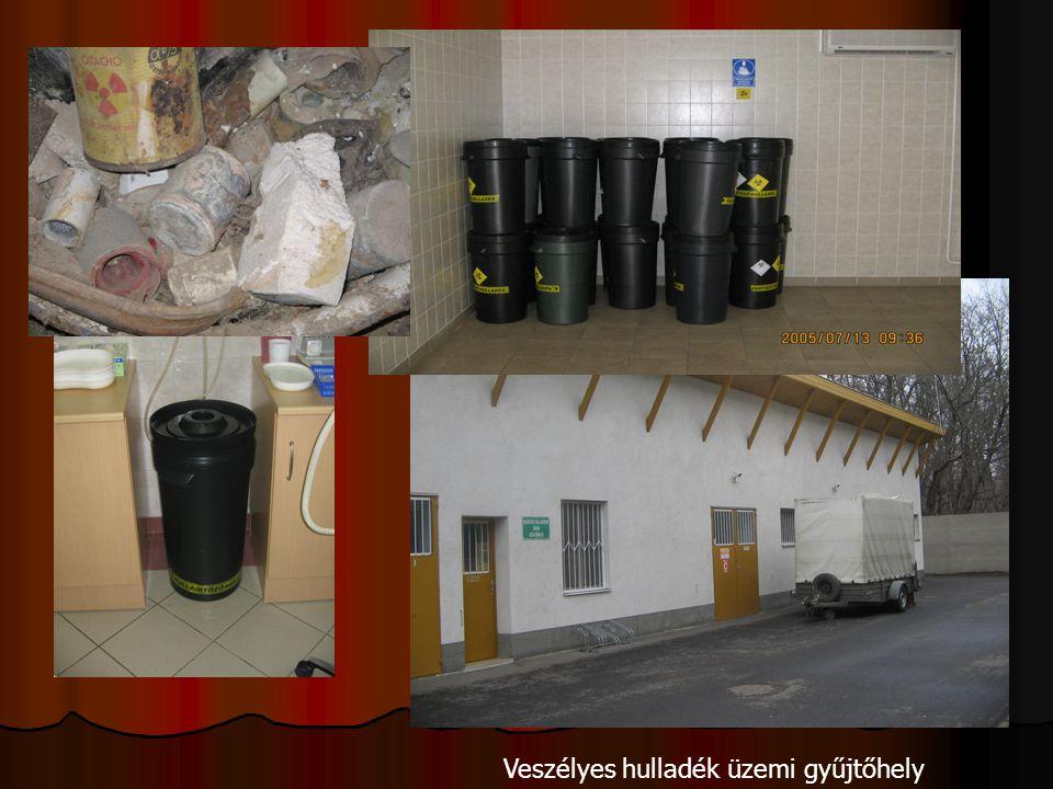 Veszélyes hulladék üzemi gyűjtőhely