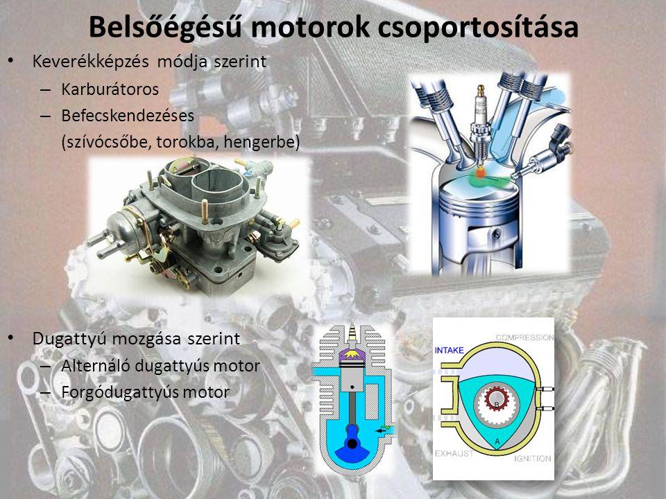 Belsőégésű motorok csoportosítása
