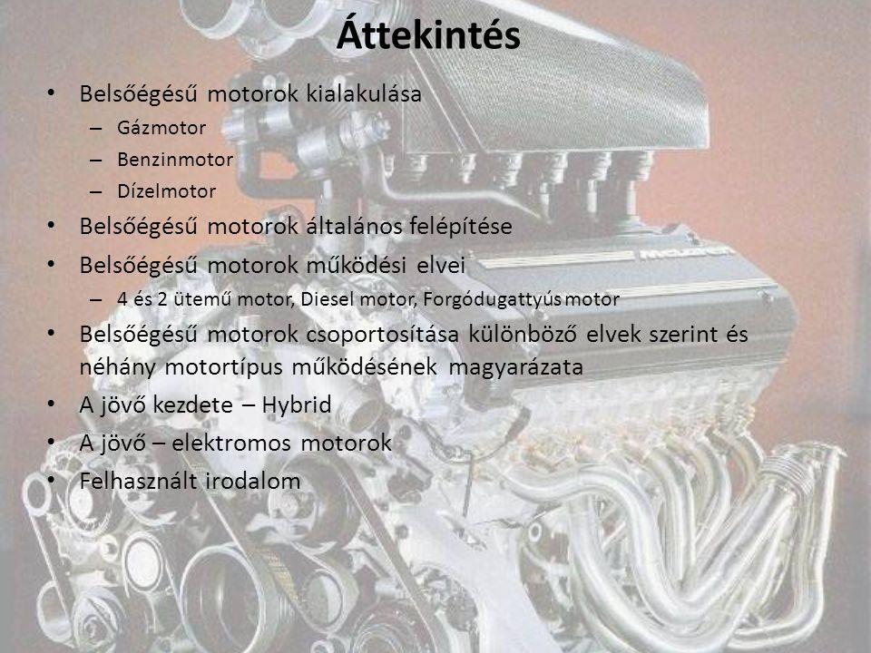 Áttekintés Belsőégésű motorok kialakulása
