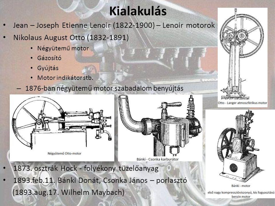 Kialakulás Jean – Joseph Etienne Lenoir (1822-1900) – Lenoir motorok