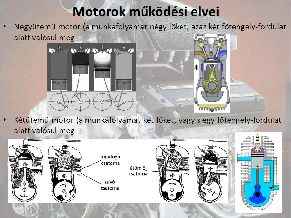 Motorok működési elvei