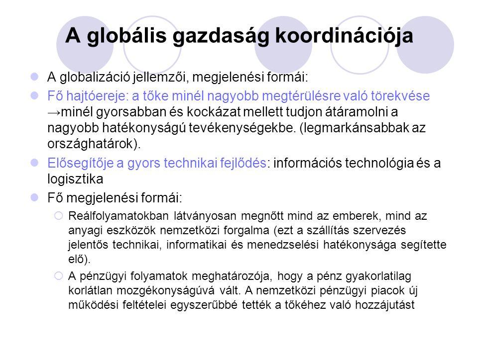 A globális gazdaság koordinációja