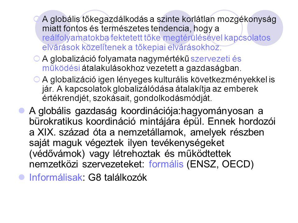 Informálisak: G8 találkozók
