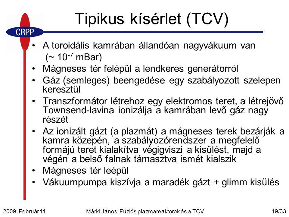 Tipikus kísérlet (TCV)