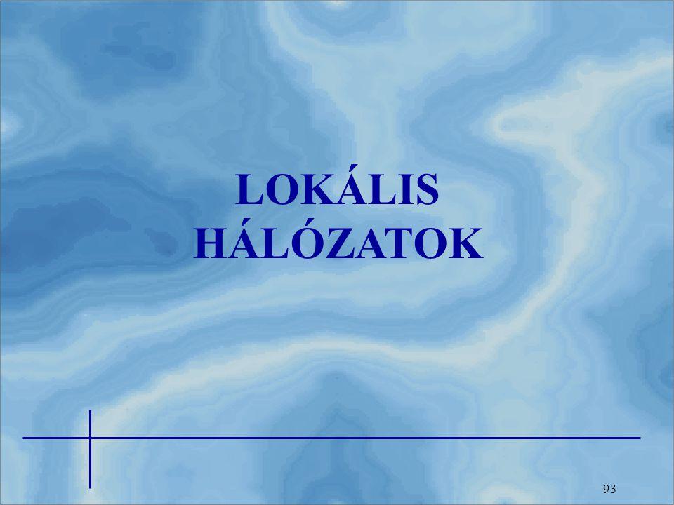 LOKÁLIS HÁLÓZATOK