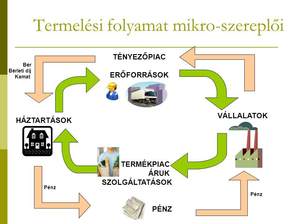 Termelési folyamat mikro-szereplői