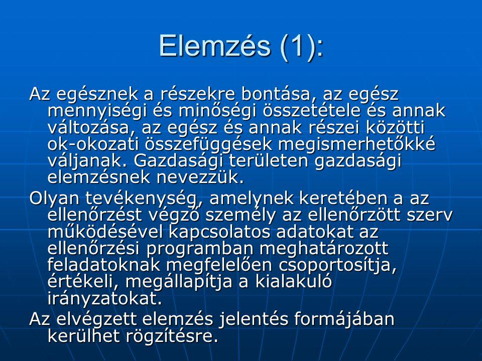 Elemzés (1):