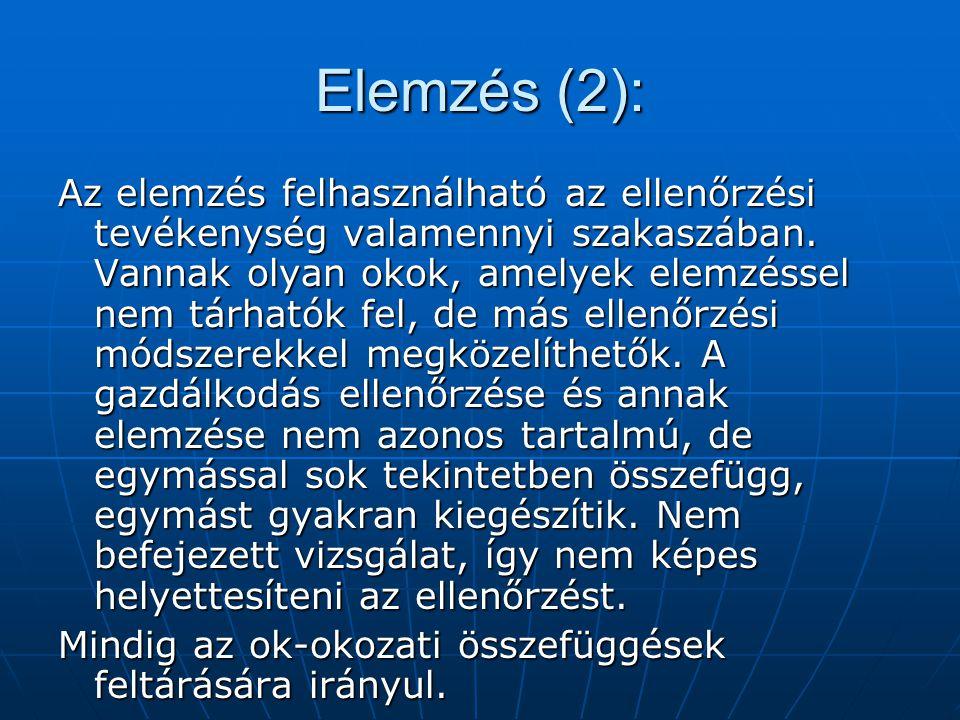 Elemzés (2):