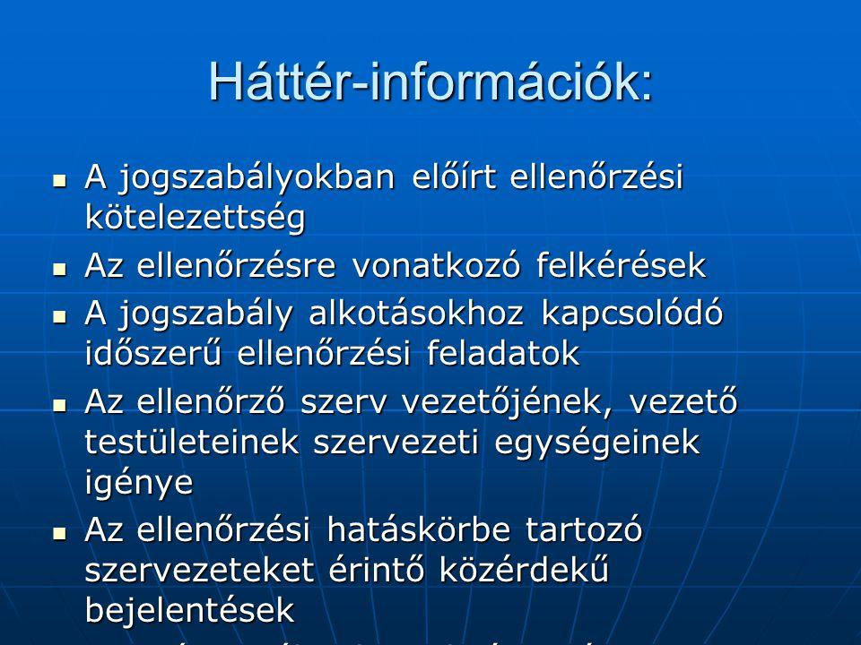 Háttér-információk: A jogszabályokban előírt ellenőrzési kötelezettség