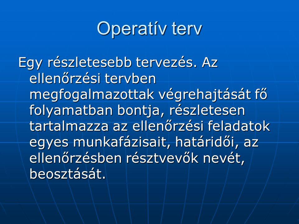 Operatív terv