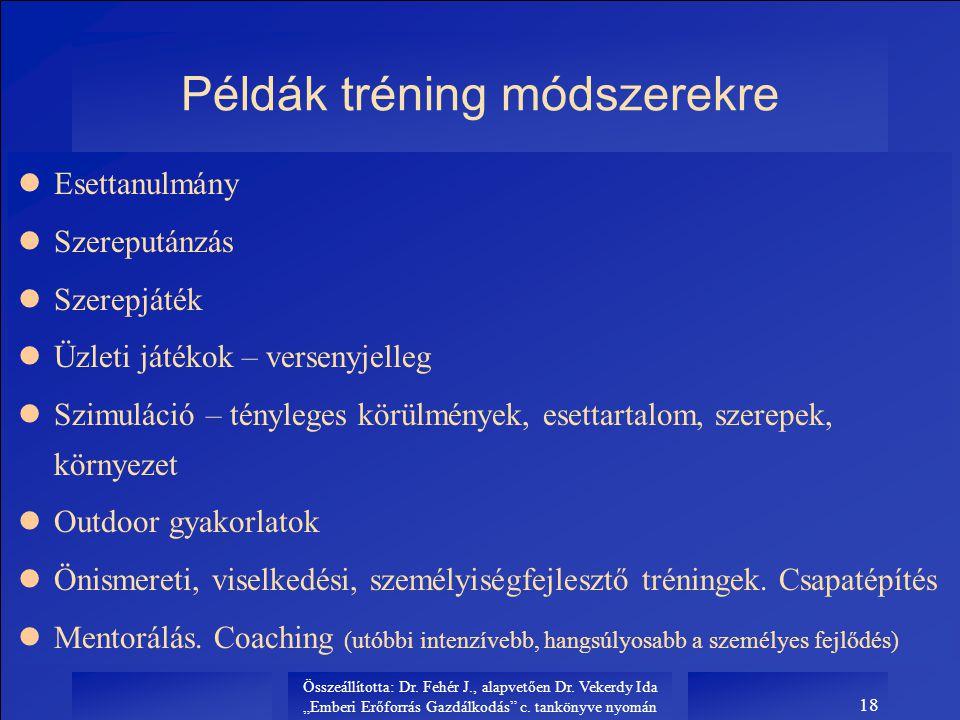 Példák tréning módszerekre
