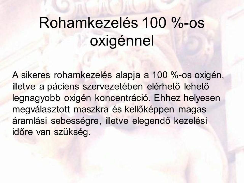 Rohamkezelés 100 %-os oxigénnel