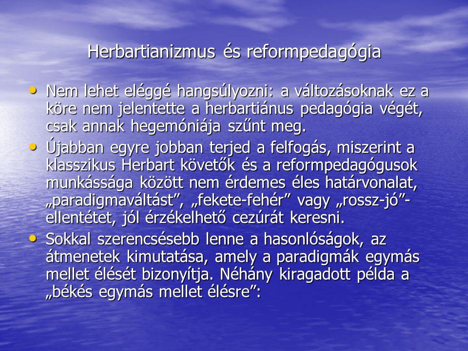 Herbartianizmus és reformpedagógia